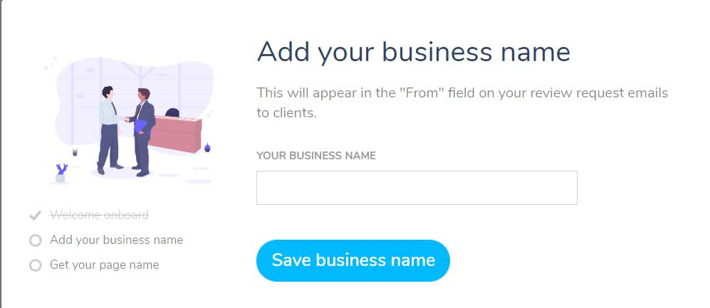 business name - online review management