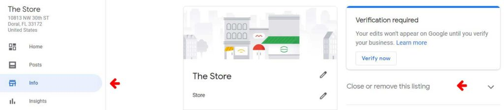 google my business listing removal
