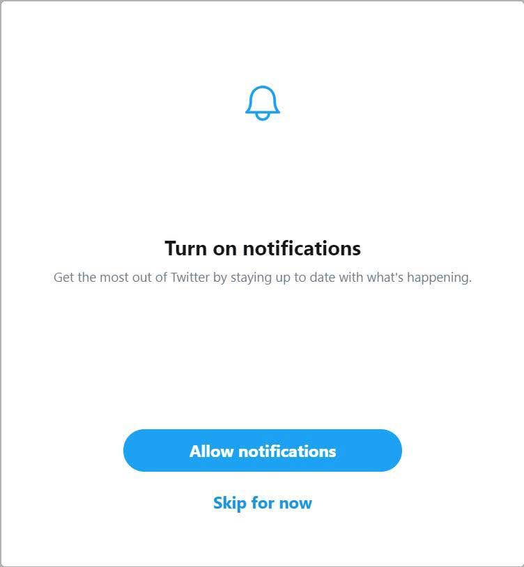 twitter business account notifications