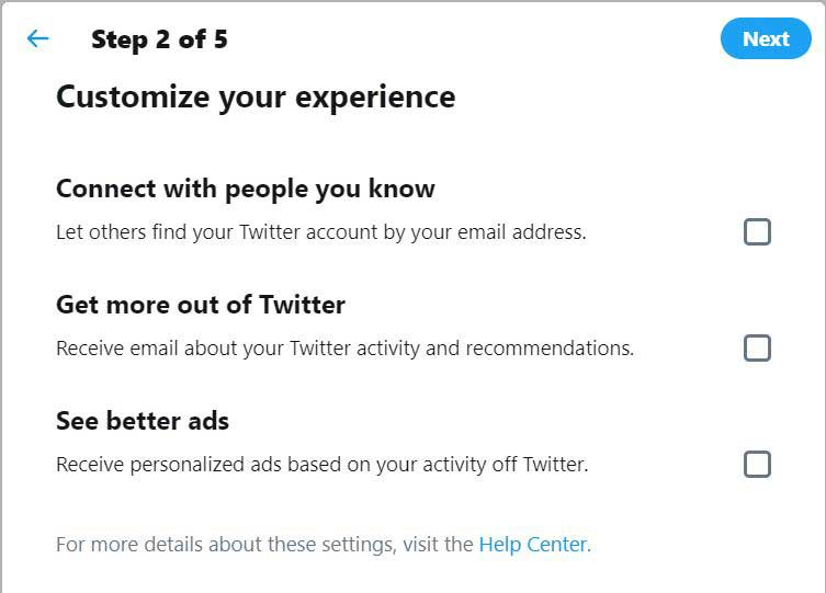 customize your twitter account